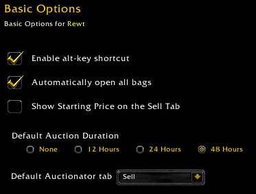 auctionator basic options Auctionator Proves To Be Better Than Auctioneer For This World Of Warcraft Auction House Player